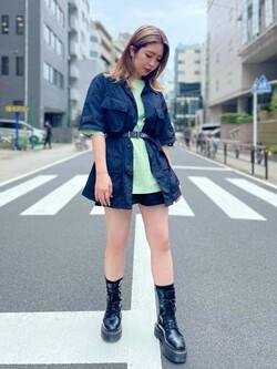 ALPHA SHOP渋谷店のmoe さんのALPHAの【TOPS 15%OFFクーポン対象】【SALE】ファティーグシャツを使ったコーディネート