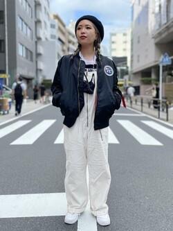 ALPHA SHOP渋谷店のmoe さんのALPHAの【試着対象】【期間限定10%OFF】L-2B アポロIIを使ったコーディネート