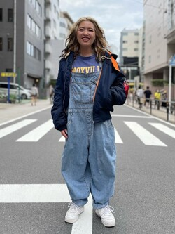 ALPHA SHOP渋谷店のmoe さんのALPHAの【期間限定10%OFF】【直営店限定】ALPHA × GLOVERALL MA-1を使ったコーディネート