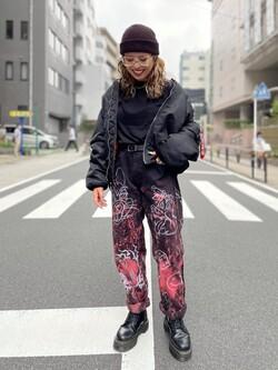 ALPHA SHOP渋谷店のmoe さんのALPHAの【予約割】MA-1 ナイロンジャケット U.S.サイズ【10月上旬頃発送予定】を使ったコーディネート