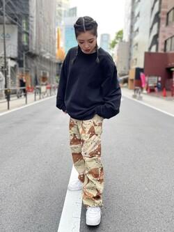 ALPHA SHOP渋谷店のmoe さんのALPHAのジャングルカーゴパンツを使ったコーディネート