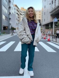 ALPHA SHOP渋谷店のmoe さんのALPHAのMA-1 NATUS NEOを使ったコーディネート