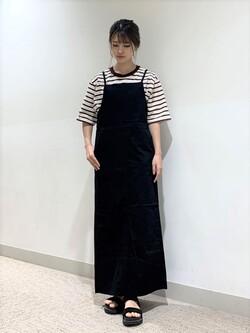 アミュプラザ鹿児島店のrihoさんのLeeの【15%OFFクーポン対象】【直営店・WEB限定】リラックスサロペットスカートを使ったコーディネート
