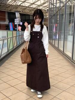 アミュプラザ鹿児島店のrihoさんのLeeの【15%OFFクーポン対象】オーバーオール スカートを使ったコーディネート