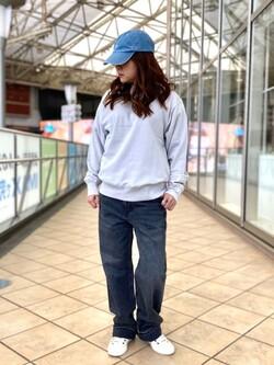 アミュプラザ鹿児島店のAyuさんのLeeの【otonaMUSE掲載】【毎日履きたい】ボーイズストレートパンツを使ったコーディネート