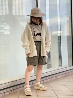 アミュプラザ鹿児島店のRuriさんのLeeの【SALE】【Lee×GRAMICCI(グラミチ)】ペインター ショートパンツを使ったコーディネート