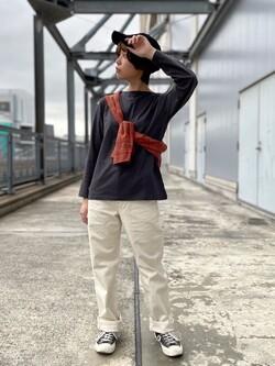 札幌パセオ店のAyapaNさんのLeeのボートネック カットソーを使ったコーディネート