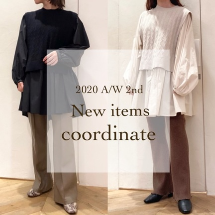 New items coordinate