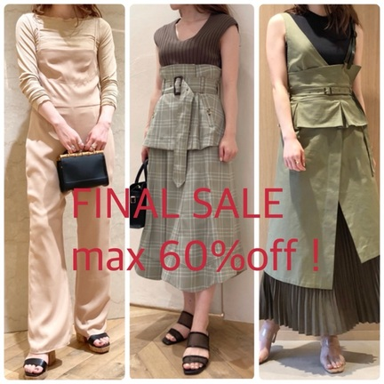 FINAL SALE!max60%off