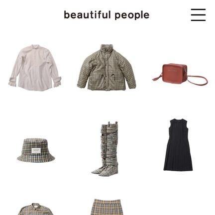 【beautiful people】新作ワンピース