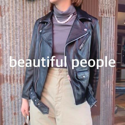 【beautiful people】定番ライダースジャケット