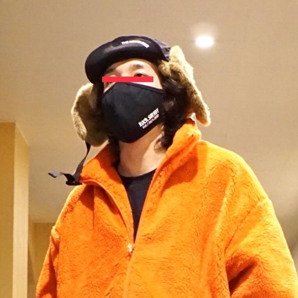 マスク付けてみました。 【WP】