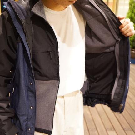【 THE NORTH FACE 】マウンテンライトジャケットにデナリジャケットを装着!