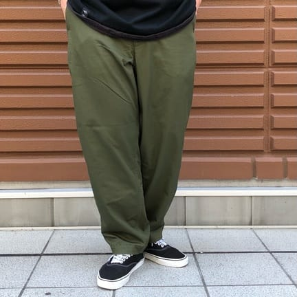 TNFPPL 21AW Stretch Twill Wide Tapered Pants