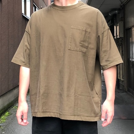 GOLD 14/- HEAVY COTTON INSIDE OUT BIG T-SHIRT