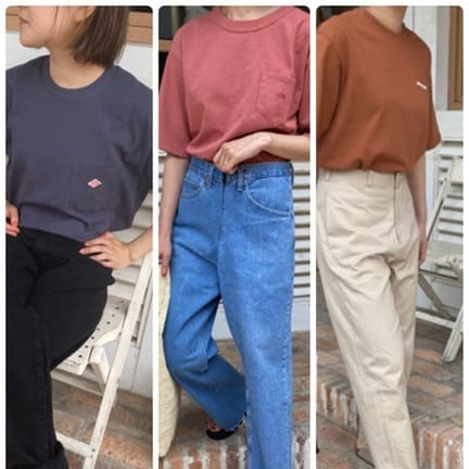 DEARスタッフが選ぶ、夏のTシャツコーディネート!