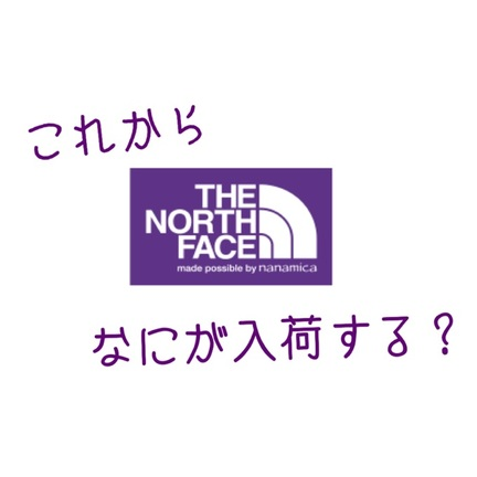 すこし先のTHE NORTH FACE PURPLE LABEL
