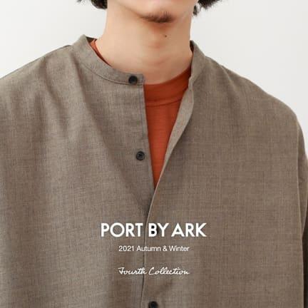 【PORT BY ARK】あ、バンドカラーシャツだ
