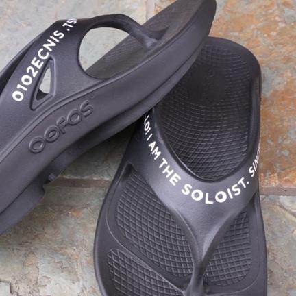 TheSoloist. × OOFOS -signature flip-flop-
