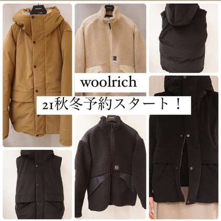 【WOOLRICH(ウールリッチ)】秋冬のアイテム予約受付中です!