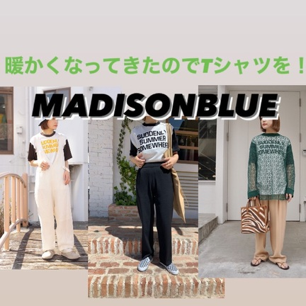【MADISONBLUE】BI-COLOR TEE