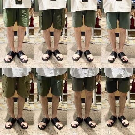 ミリタリーのショーツ履き比べてみました