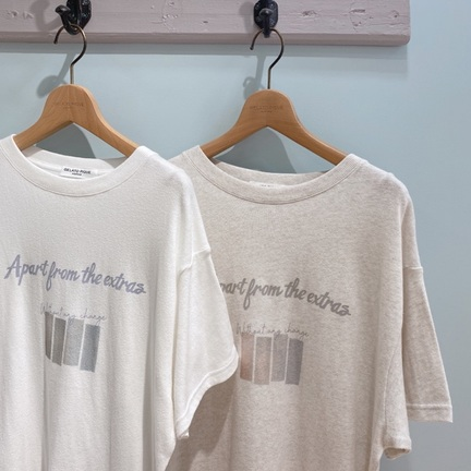 【HOMME】コットン100%のナチュラルなロゴTシャツシリーズ