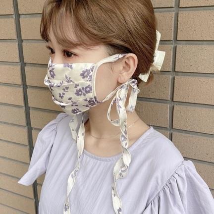 *マスク2種 着用比較 *