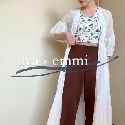 【aya × emmi】低身長コーデ