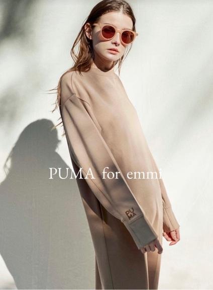 初のアパレルコラボレーション【PUMA for emmi】