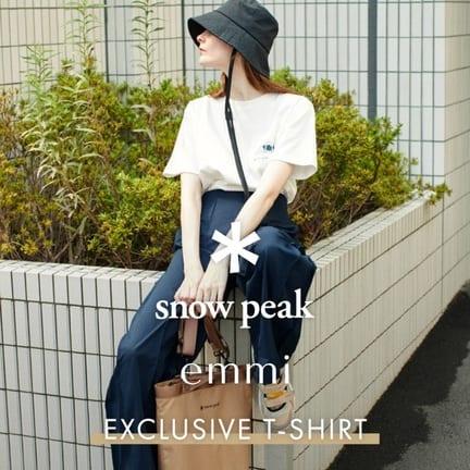 emmi×Snow PeakコラボTシャツ発売!