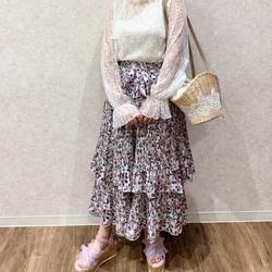 新作スカートのエレガンスコーデ♡