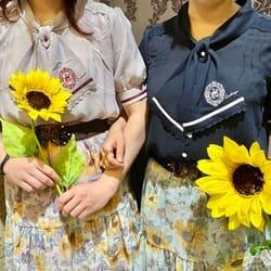 ⋆⸜ひまわり柄シアースカート⸝⋆双子コーデ
