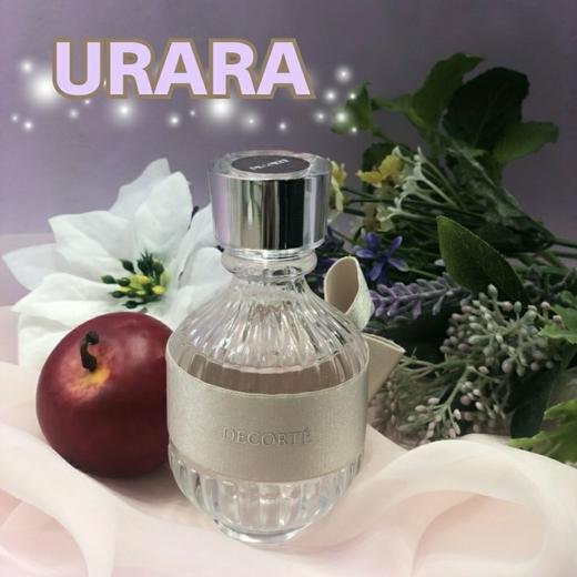 【若々しい香りのフレグランス】  デコルテフレグランスの中でも、 一番スッキリとした、リフレッシュ出来る香り~URARA~のご紹介(^^)/   ''リンゴ''や''メロン''のフレッシュな香りで始まり…… 清らかな''睡蓮''の香りで、みずみずしい鮮やかな印象に… 最後は、サンダルウッドのウッディな香りが残ります……  仕事の合間や疲れた時、目覚めの朝に、 ~URARA~を纏うと、1日中スッキリした気分で過ごせます☆