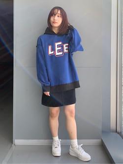 Lee アミュプラザ博多店のMISAKIさんのLeeの【デニム15%OFFクーポン対象】STANDARD WARDROBE  デニム ミニスカートを使ったコーディネート