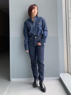 Lee アミュプラザ博多店のMISAKIさんのLeeの【定番】ウエスタン デニムシャツ長袖を使ったコーディネート