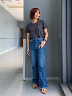Lee アミュプラザ博多店のMISAKIさんのLeeの終了【SALE】ロゴモチーフプリント Tシャツを使ったコーディネート