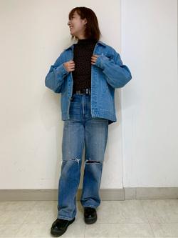 Lee アミュプラザ博多店のMISAKIさんのLeeの【再値下げ Winter sale】91B デニムジャケットを使ったコーディネート