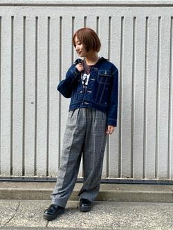 Lee アミュプラザ博多店のMISAKIさんのLeeのTRAD GIRL ダッド トラウザーパンツを使ったコーディネート