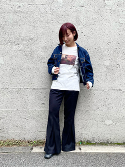 Lee アミュプラザ博多店のMISAKIさんのLeeのSTANDARD WARDROBE RIDERS デニムジャケットを使ったコーディネート