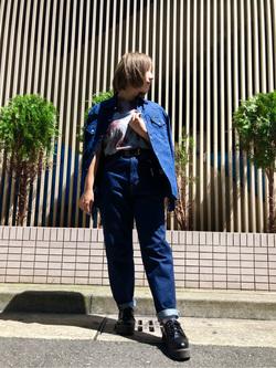 Lee アミュプラザ博多店のMISAKIさんのLeeのSTANDARD WARDROBE テーパードを使ったコーディネート