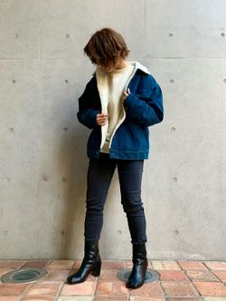 Lee アミュプラザ博多店のMISAKIさんのLeeのBOA STORM RIDER ジャケット【コーデュロイ】を使ったコーディネート