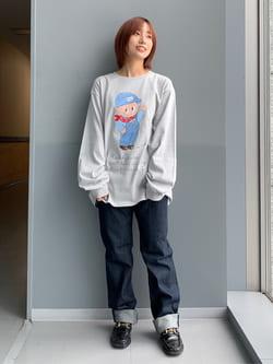 Lee アミュプラザ博多店のMISAKIさんのLeeのAMERICAN RIDERS 101Z ストレートジーンズを使ったコーディネート