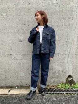 Lee アミュプラザ博多店のMISAKIさんのLeeの【Winter sale】101 PROJECT RIDERS JACKETを使ったコーディネート