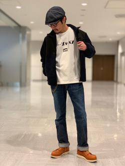 成田空港店(閉店)のYuukiさんのLeeのARCHIVES 45s RIDERS 101B (RAW 生デニム)を使ったコーディネート