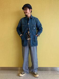 成田空港店(閉店)のYuukiさんのLeeの【ユニセックス】DUNGAREES ペインターパンツを使ったコーディネート