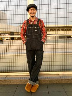 成田空港店(閉店)のYuukiさんのLeeの【年間ベストセラー】オーバーオールを使ったコーディネート