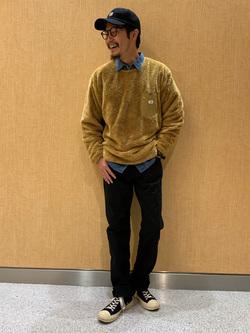 成田空港店(閉店)のYuukiさんのLeeのAMERICAN RIDERS 101Z ストレート(ツイル)を使ったコーディネート