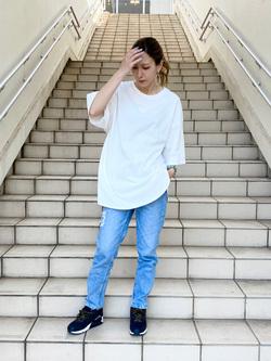 アミュプラザおおいた店のSHOPANさんのLeeの終了【再値下げ!サマーセール】エンブロイダリーTシャツを使ったコーディネート