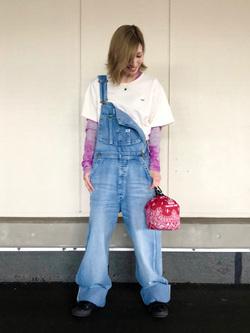 アミュプラザおおいた店のSHOPANさんのLeeのロゴモチーフプリント Tシャツを使ったコーディネート